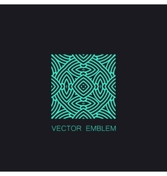 art-deco turquoise emblem vector image