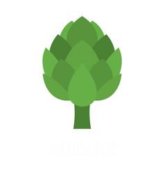 Artichoke icon flat style vector