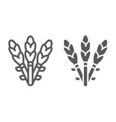 Asparagus line and glyph icon vegetable and vector