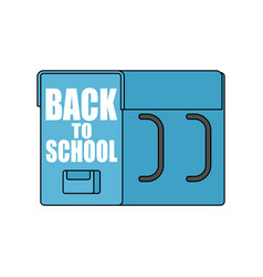 back to school big schoolbag for september 1 vector image