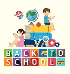 back to school design education idea vector image