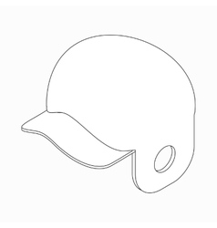 Baseball helmet icon isometric 3d style vector image