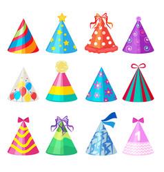 Birthday caps cartoon party decoration vector