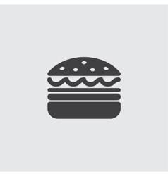 Burger icon vector