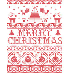 christmas pattern merry christmas pattern vector image
