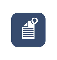 create document- icon flat design vector image