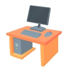Desk icon cartoon style vector image