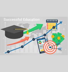 diagram of successful education vector image