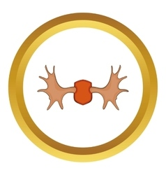 Elk horns icon vector