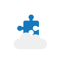 flat design concept of jigsaw puzzle piece on vector image