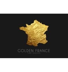 France map Golden France logo Creative France vector image