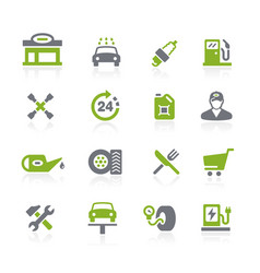 Gas station icons natura series vector
