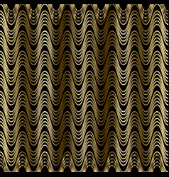 Gold waves 3d seamless pattern drapery curtains vector