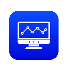 graph in computer screen icon digital blue vector image