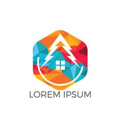 green house logo design vector image