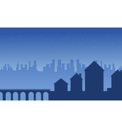 House and building silhouettes landscape vector image