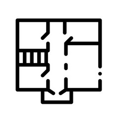 house apartment planning thin line icon vector image