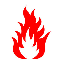 icon of red fire vector image