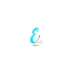 initial letter e graphic design vector image