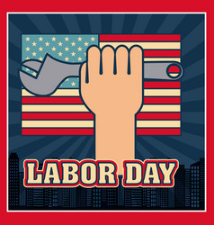 Labor day card vector