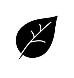 leaf icon black sign on vector image