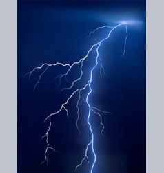 lightning glowing on a blue background vector image