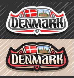 logo for denmark vector image