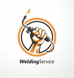 logo for welding industry vector image