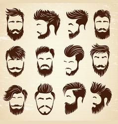 Male hairstyle beauty haircut salon for man vector