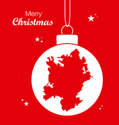 merry christmas theme with map of charlotte north vector image