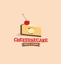 Modern professional sign logo cheesecake vector