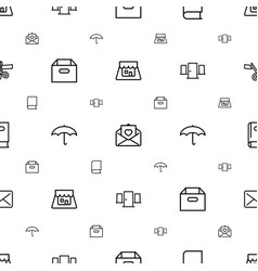 Open icons pattern seamless white background vector