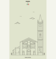 Parma cathedral italy vector