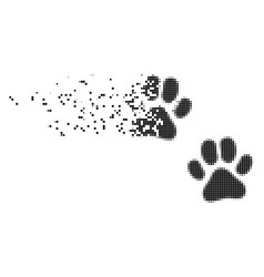 paw footprints moving pixel icon vector image