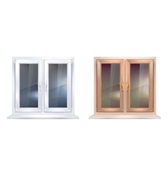 plastic windows vector image