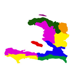 political map of haiti vector image