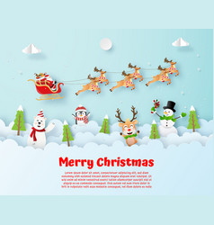 postcard christmas party with santa claus vector image