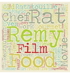 Ratatouille Movie Review text background wordcloud vector