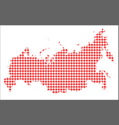 Red dot map of russia vector
