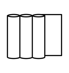 Rolls of paper icon outline style vector image