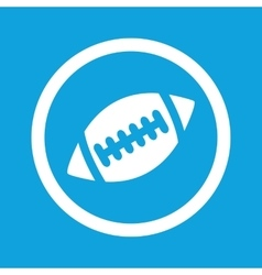 Rugby sign icon vector image