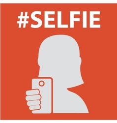 Selfie taking self photo vector