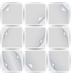 Set of white stickers vector image vector image