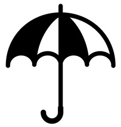 simple black and white umbrella icon vector image