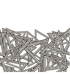 Striped triangles pattern vector
