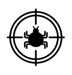 Target with bug infection virus icon vector