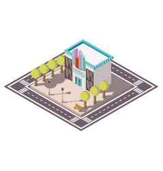 theatre isometric illsutration vector image