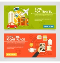 Time For Travel And Find The Right Place Concept vector