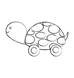 Turtle baby cute icon vector