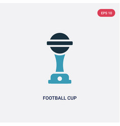 Two color football cup icon from sports vector